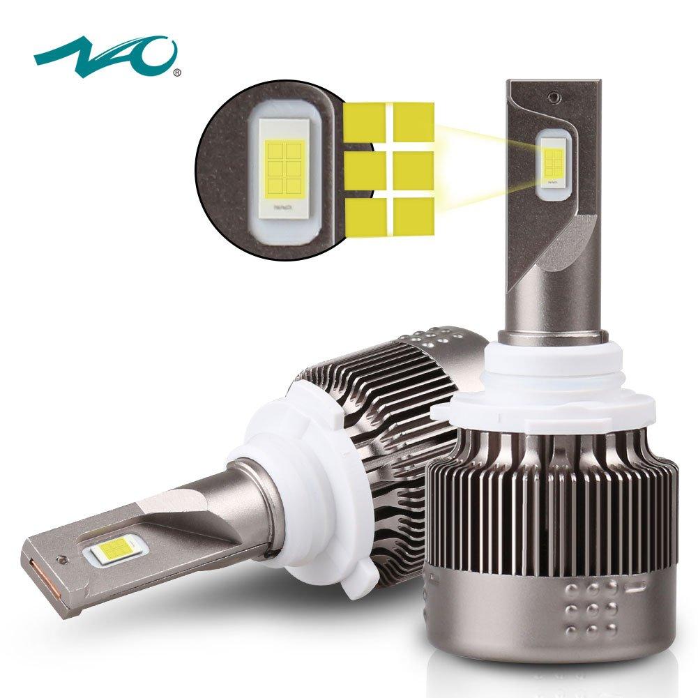 HB3 9005 Led Headlight Bulb NAO 60W 7600LM 6500K HB3 9005 Led Headlight Bulbs Conversion Kit LED High Beam Headlight Bulbs 30W 7600LM 6500K All-in-One Conversion Kits