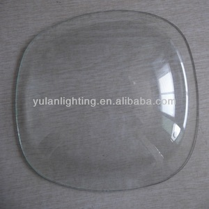 bent/curved/dome 6mm toughened glass lens/cover/diffuser with ISO/CE/CCC CERTIFICATE