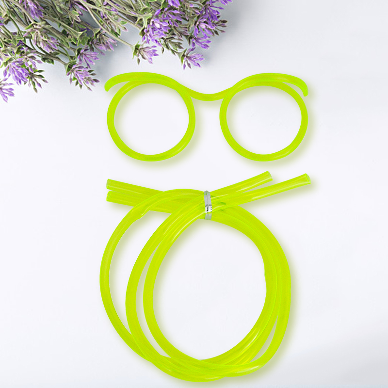 Novelty Flexible Crazy Drinking Straw Tube Glasses Carnival Fancy Dress