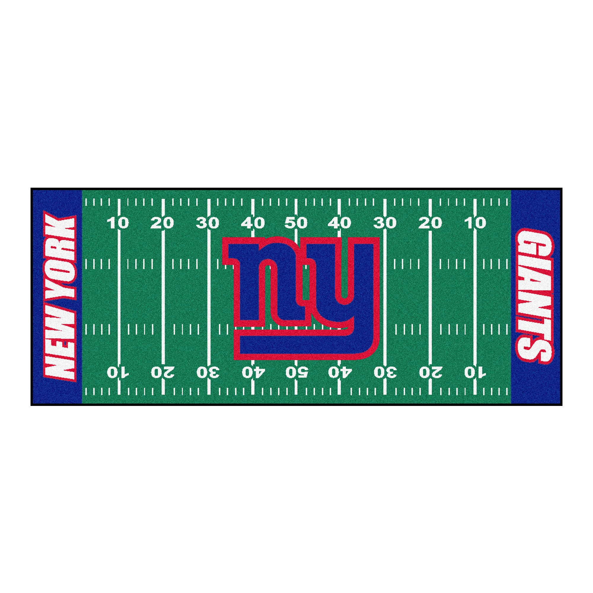 FANMATS NFL New York Giants Nylon Face Football Field Runner