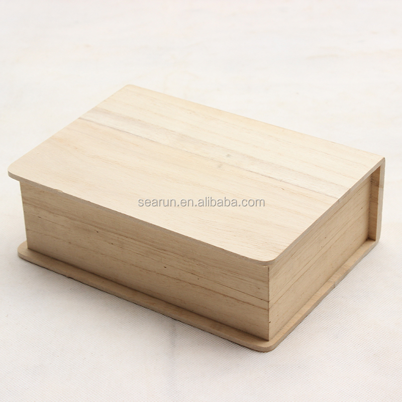 Unfinished Wood Box Asian Style