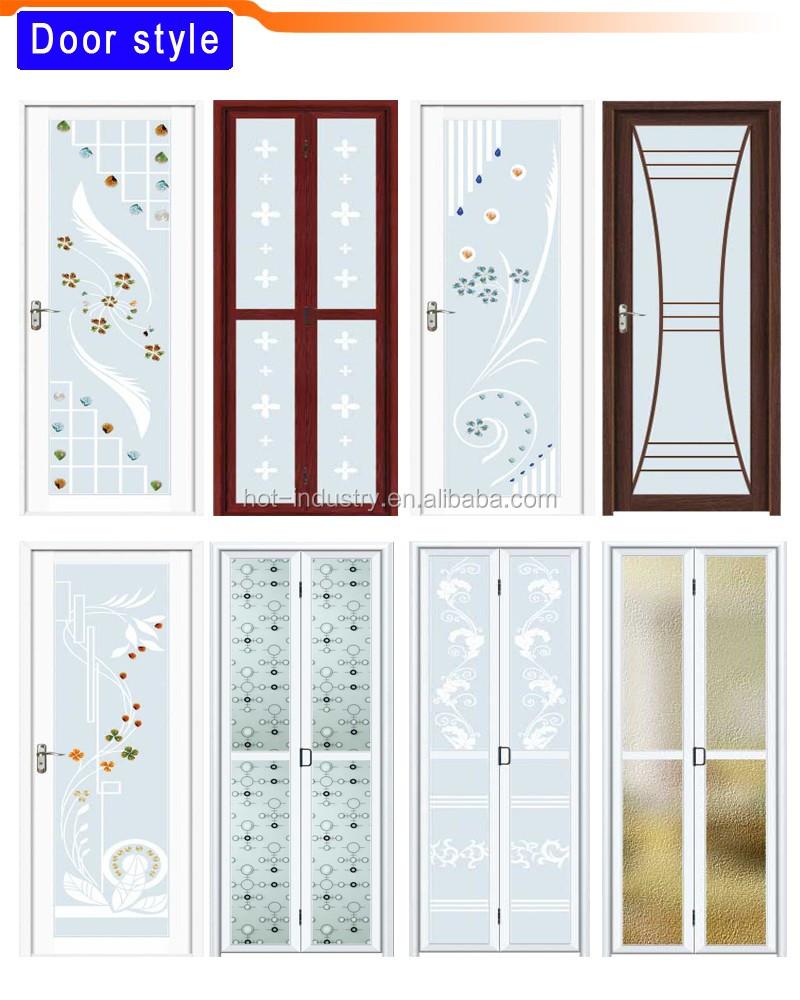Double tempered glazing bathroom aluminum door classic for Aluminium bathroom door designs