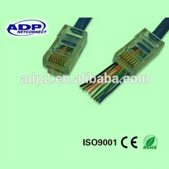 Adp Cat6 Utp Rj45 Internet Cable Male Plug Connector For Computer ...