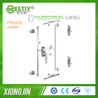 Aluminum handle and friction stay aluminum window system,Mutil point lock for Outward-Opeing Window System PWK250