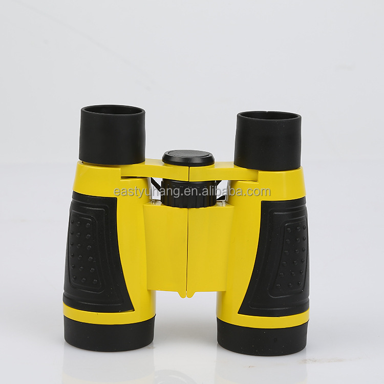 Cheap price promotional plastic children toy yellow red silver custom loupes binocular 5x30mm