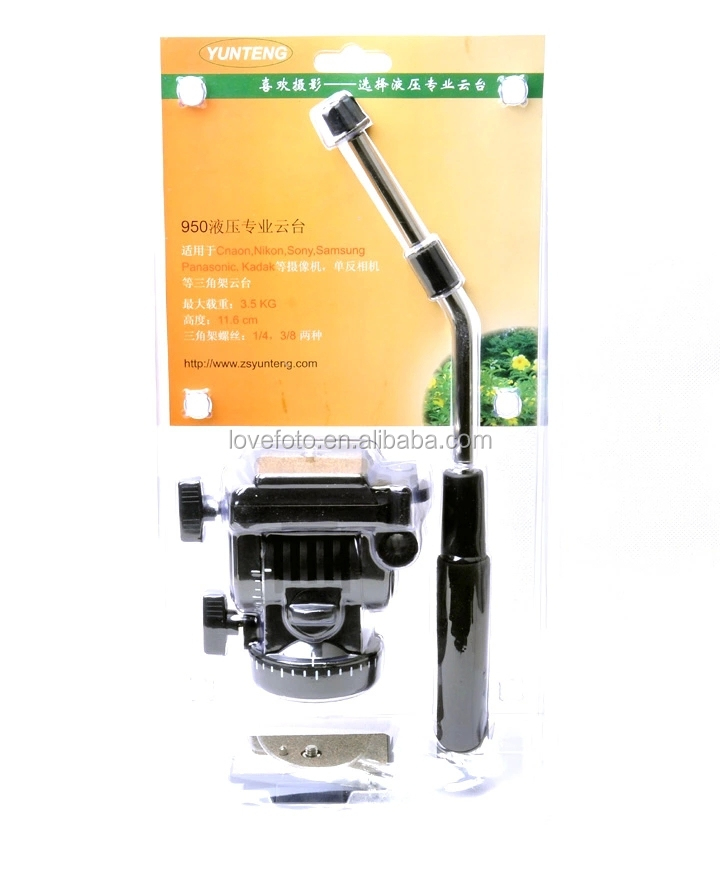 New Professional Video Head 3-way Fluid Drag Tripod Head Camcorder SLR Camera