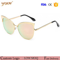 2017 fashion cat eye sunglasses metal frame vogue sun glasses