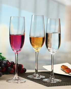 Kcp 004 Best Gift Glware Collection Lead Free Crystal Champagne Flutes Gles 7 5 Ounce Flute Gl Red Fluted