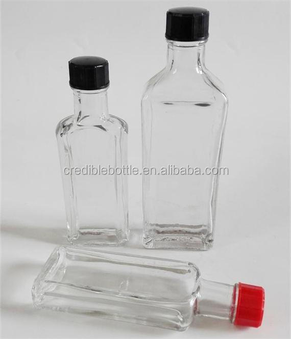 30ml clear glass medicine oil bottle safflower oil bottles with cap