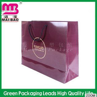 Fashionable Custom Printed Gift Shopping Big Strong Paper Bags with Your Own Logo
