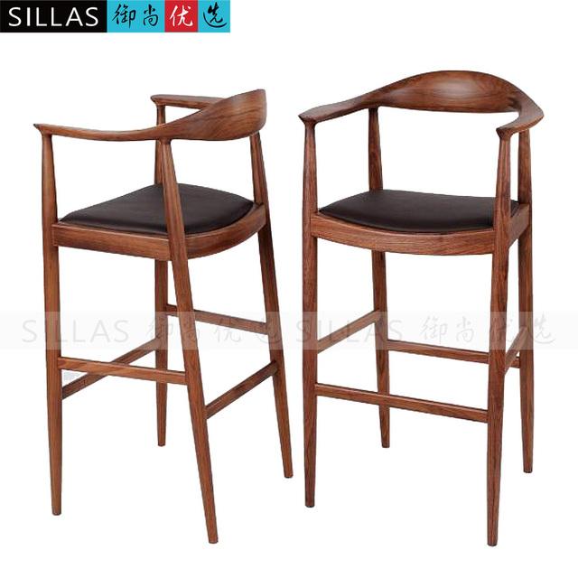 Chaise Bar Bois : kennedy noyer meubles en bois chaise longue tabouret de bar bar chaise haute chaises tabourets ~ Teatrodelosmanantiales.com Idées de Décoration