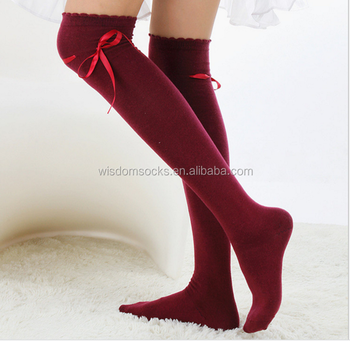 41a774b279a 2018 Amazon Hot Selling Fashion Women Sport Over Knee High Socks ...