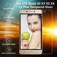 0.3mm 9H 2.5D Screen Protector Tempered Glass With Cleaning Kit For ZTE Blade S6 Scratch Resistant Explosion-proof