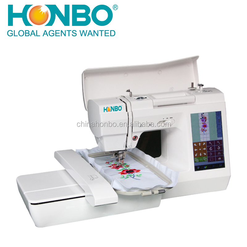 Hb40 Domestic Touch Screen Android System Home Use Embroidery New Embroidery Sewing Machine