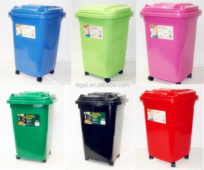 Fashion Circle Trash Can/plastic Round Dustbin With