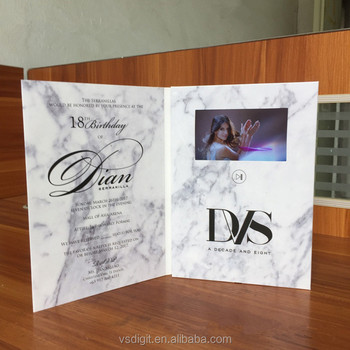Birthday Holiday Greeting Video Card With Soundtft Screen
