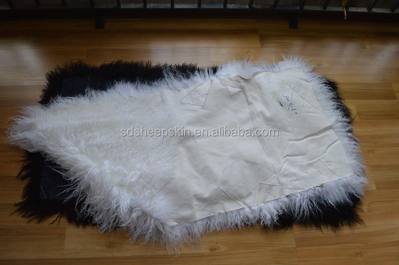 Tibetan Curly Sheepskin Rug Plush Tibet Lambskin Rug Alpaca Fur Rug