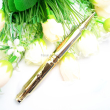 Hot sale handmade ballpoint pen brass refil casing bullet pen Machine Gun