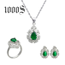 Wholesale Moti Jewelry Set Women 925 Sterling Silver Bridal Jewelry Set