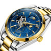 4 pointer chronograph Moon Phase watch men business wrist watches T795C
