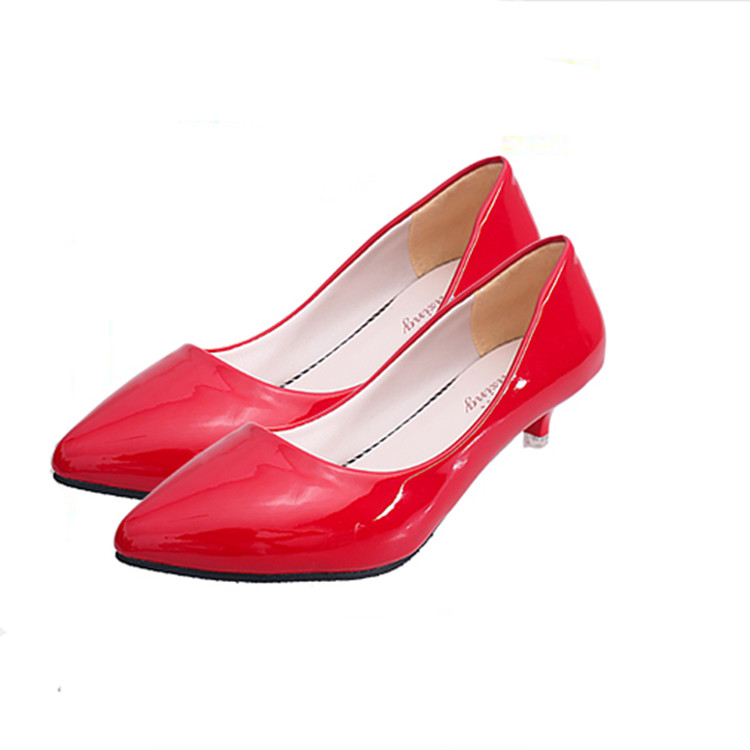 Cheelon Shoe Candy Color Dress Shoes Comfortable Working Factory