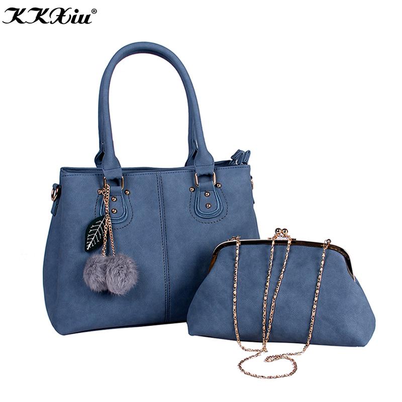 34b1f803a2240 2018 الكورية نمط المرأة حقائب مجموعة مع سلسلة حزام السيدات المحفظة السيدات  بارس اليد مجموعة حقيبة