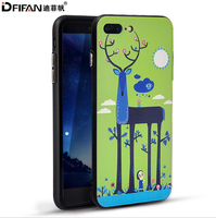 DFIFAN for iPhone 7 Plus tpu Case,DFIFAN Thin hard PC 3D Relief Printing PC back Cover Case for iPhone 7 plus