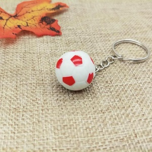 Football Shaped Three-dimensional PU Foam Soccer Ball Keychain