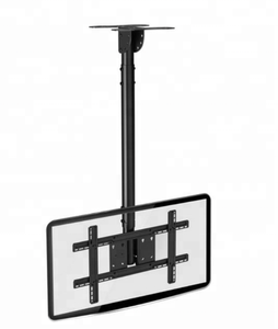 Flat panel telescopic ceiling tv bracket motorized tv mount
