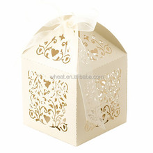 Ivory Laser Cut Filigree Wedding Candy Box | Wedding Favour Box