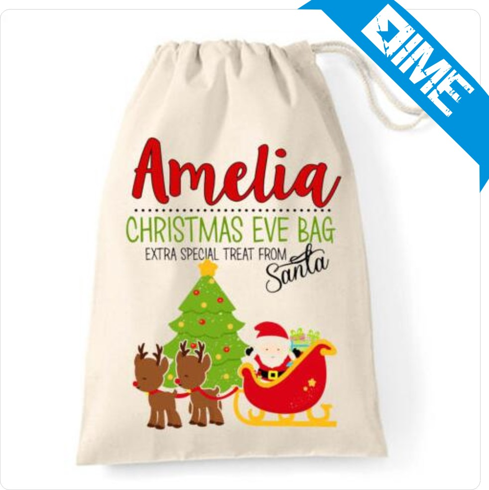 Reusable Eco Friendly Organic Christmas Decoration Cotton Bag