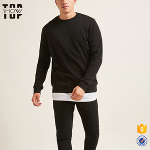 Bulk wholesale clothing high quality sweatshirts custom classic french terry pullover sweatshirt