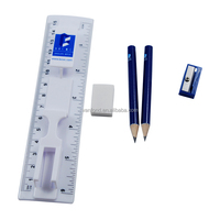 School Student Ruler Sharpener Pencil Eraser Sets