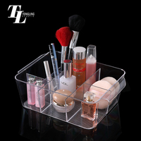 Factory wholesale makeup brush display new style clear acrylic jewelry cosmetic organizer