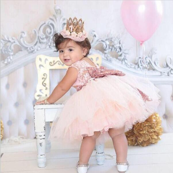 Toddler Baby Girls Clothes Floral Ruffle Princess Dresses Sundress Kids Outfits