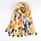 Wholesale 2019 latest dubai hijab muslim fashion scarf high quality long yellow cotton camouflage print scarf