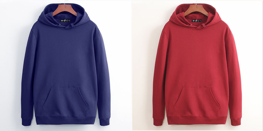 China manufacturer custom high quality mens blank black vintage hoodies with no labels
