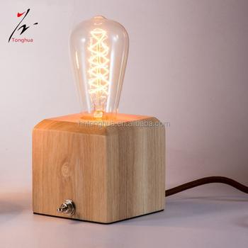 Vintage Nachttischlampen Quadratischer Holzsockel Fur Schreibtischlampen Fur Wohnzimmerkinder Buy Vintage Nachttischlampen Holzsockel Schreibtisch