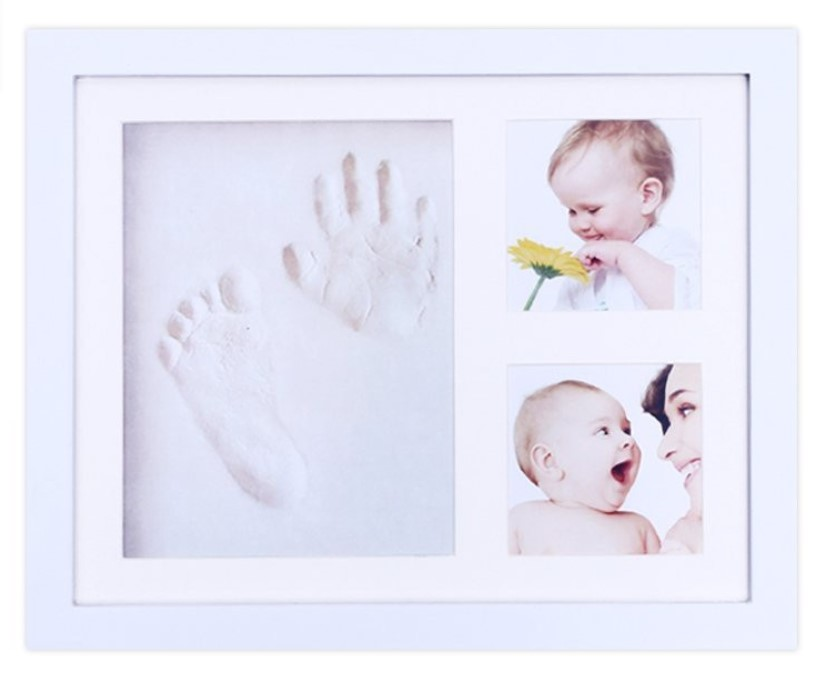 Newborn baby footprint photo frame handprint photo frame with environmental protection clay