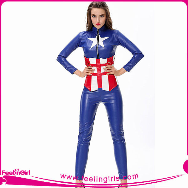 hexinfashion America captain sports wear costumes