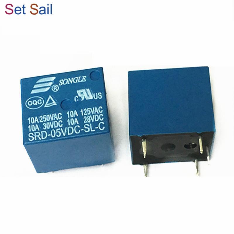 50pcs 5pins SRU-05VDC-SL-C 10A 250VAC 30VDC SONGLE Power Relay