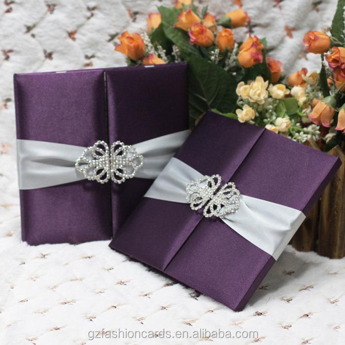 2014 Custom Luxury Silk Box Wedding Invitations Wholesale Buy