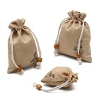 Wholesale drawstring jute gift bags gift pouches small jute gift bag