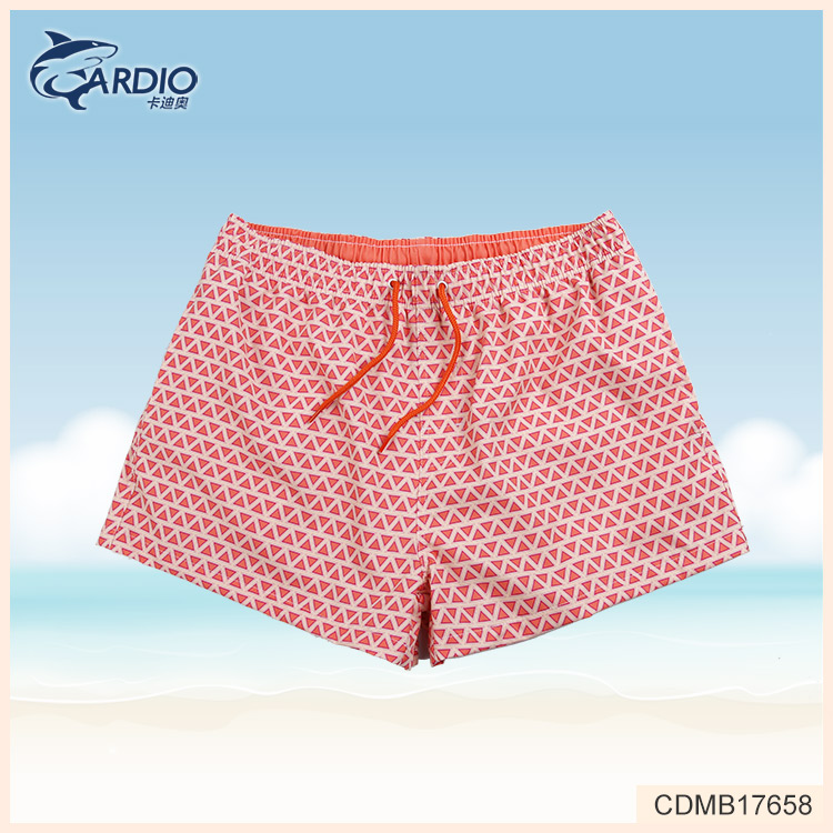 Shaoxing manufacturer custom printed elastic boardshort cotton