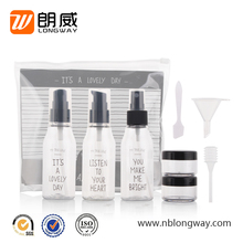 LW-TR-05 china manufacture professional 9pcs plastic travel toiletry kit