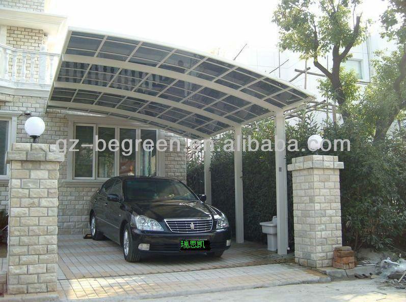 Outdoor parking policarbonato carpa garaje para coche garajes marquesinas y cocheras - Porches para coches ...