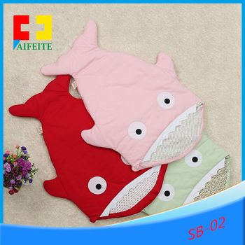 Kids Animal Sleeping Sack Baby Shark Cotton Bags