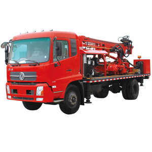 Water well borehole drilling rig trucks type for sale use in drill mine deep rock
