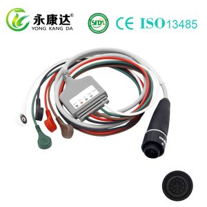 original INTEGRATED 10 Pin 5 lead ECG/EKG cable