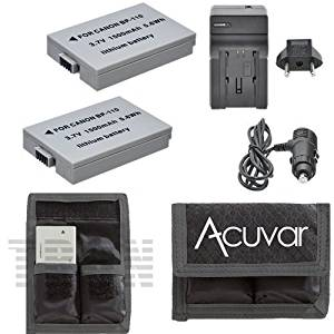 HF-R28 HF-R27 HF-R206 Camcorders HF-R205 HF-R21 HF-R26 - UltraPro Replacement Charger for Canon BP-110 Battery and the Canon Vixia HF-R20 HF-R200 110//220v with Car /& EU adapters Canon BP-110 Digital Camera Battery Charger
